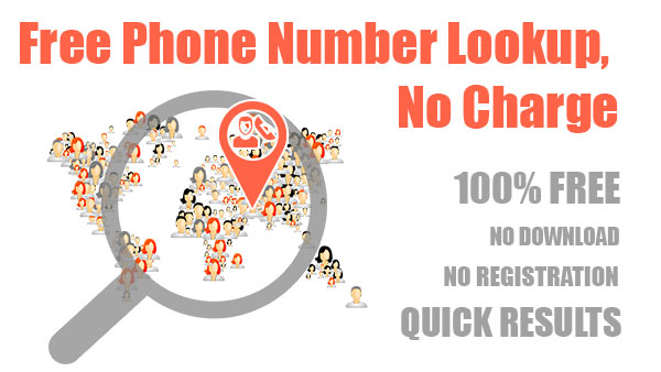 Free phone number lookup no charge through Free Lookup